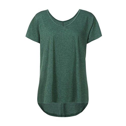 Donna SANFASHION Ballerine Damen Bekleidung Multicolore Multicolore Verde Shirt155 SANFASHION wzXHqX