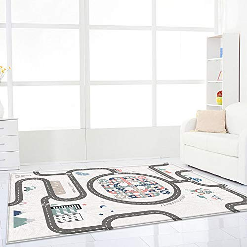 PinnacleT1 Kids Play Mat,Two Sides Non-Slip Waterproof LDPE Baby Crawling mat Playing Gym Game Pad with Flying Chess Set Great for 6-36 Months