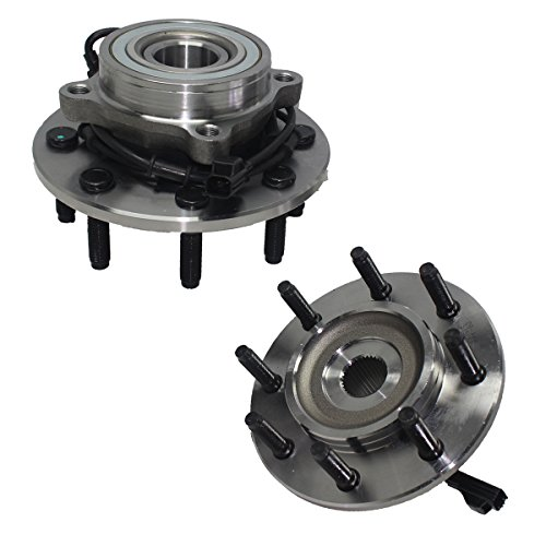 Detroit Axle - Pair (2) Front Wheel Hub and Bearing Assembly Set - Driver & Passenger Side fits 4x4 Only - 8-Lug w/ABS