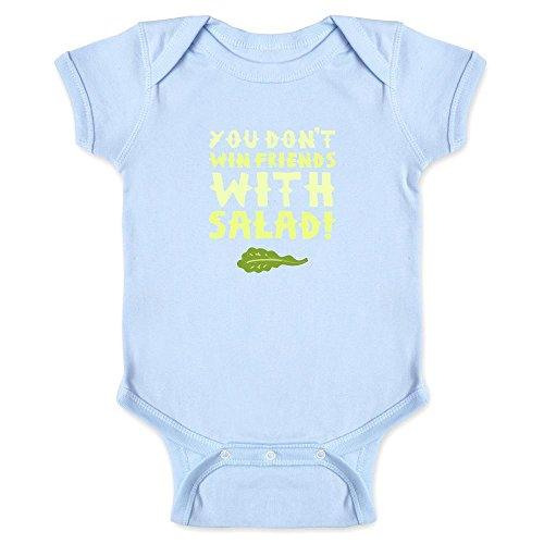 Pop Threads You Don't Win Friends with Salad Light Blue 18M Infant Bodysuit
