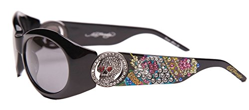 - Ed Hardy EHS-032 King Sunglasses - Black/Gray