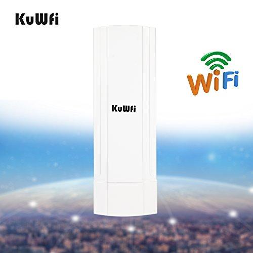kuwfi Wds impermeable 150Mbps Wireless Router CPE 3KM Distancia al aire última intervensión Punto a punto punto de...