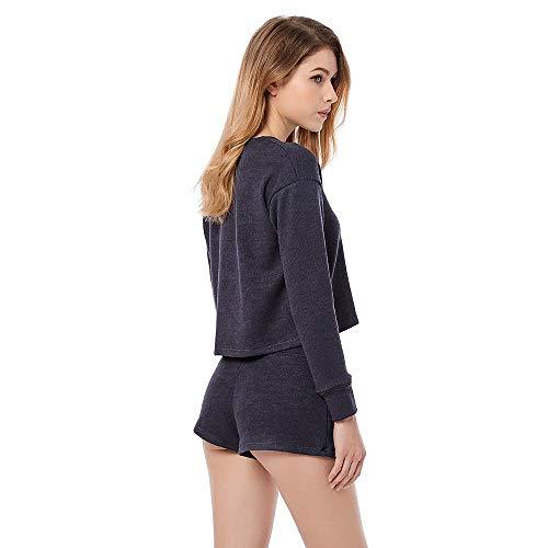 Azul Seda Mujer Camisa Camisera Trajes Kimono Pijamas Domicilio Para De Sexy Satén Albornoz Manga A Corto Cortos Vestido Deslizante Pantalones Servicio Noche Larga nSCwqBzxw