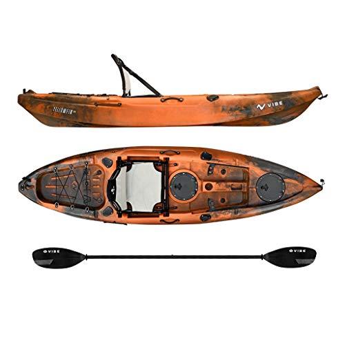 Vibe Kayaks Yellowfin 100 | 10ft Angler Sit On Top Kayak | 1 Person Fishing