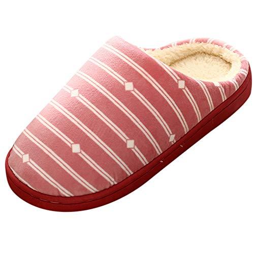 - TnaIolral Women Shoes Gingham Plush Soft Slippers Anti-Slip Floor