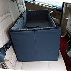 A4Pet Pet Lookout Booster Car Seat/Raised Pet Bed At Home for 2 Small Dogs, Cats and Large Dog