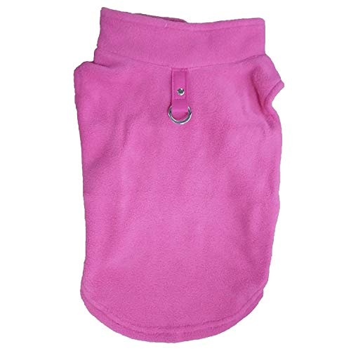 Winter Fleece Pet Clothes Dogs Puppy Clothing French Bulldog Coat Pug Costumes Jacket Small Dogs Chihuahua,Pink,XL]()
