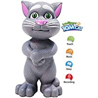 FunBlast Talking Tom Toy - Intelligent Talking Tom Cat for Kids, Sound Toys Available in 2 Color (White)