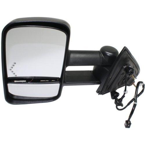 Kool Vue CV126EL-S Mirror for CHEVROLET SILVERADO/SIERRA 1500 14-17/2500 HD/3500 HD 15-17 LH Pwr Man Fldg Htd Trailer Towing w/Sgl Lgt All Cab Types Txtd Blk