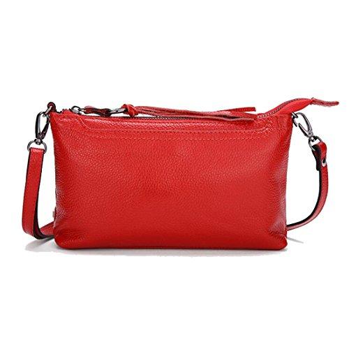 Crossbody Clutch Leather Wallets Bag Purse EPLAZA Red Shoulder Women Handbag wFURxqZ