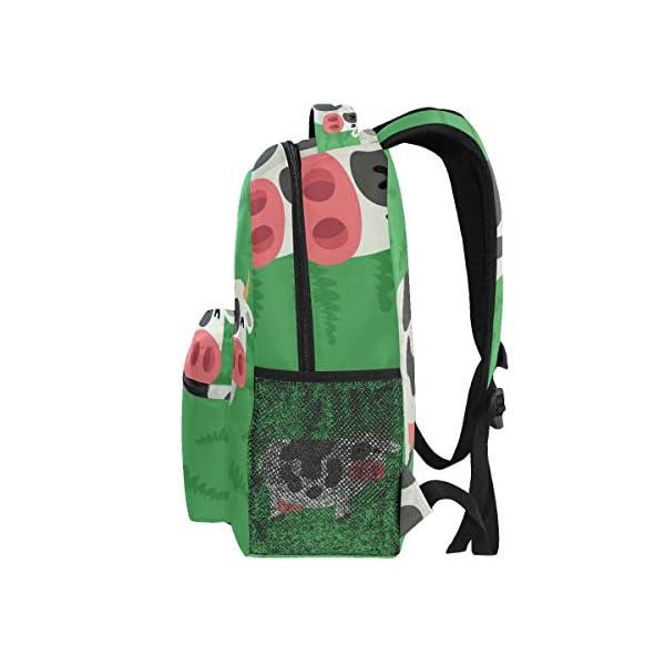 DXG1 Zaino Donna Uomini Ragazzo Ragazzo Scuola Borsa Verde Mucca Libro Daypack Viaggio College Spalla Grande Capacità 40… 4 spesavip
