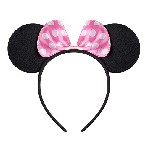 Homemade Mouse Costume (SuperLi Mickey Mouse Ears Headband Costume Acessory Boys Girls Birthday Party Celebrations (Set of)