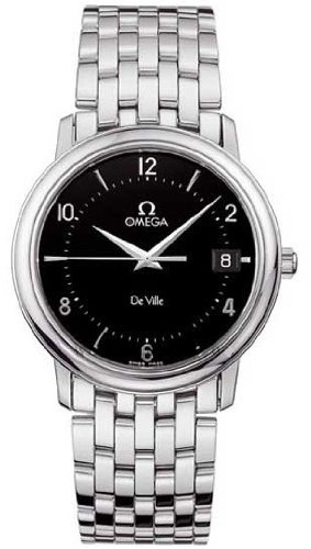 Omega de hombre 4510.50.00 de Ville Prestige Cuarzo Negro Dial reloj