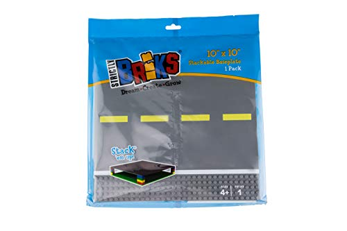 "Classic Baseplates 10"" x 10"" Building Brick Base Plate Toy Kit 