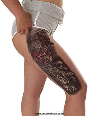 Tatuaje de brazo XXL con diseño de ángeles y calaveras de ...