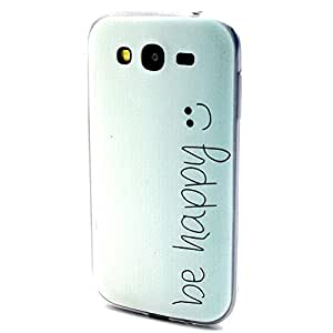 For Galaxy Grand Duos i9080 , ivencase Fashion Happy Smile Slim Pattern Ultra Thin Flexible Soft TPU Gel Texture [Clear] Bumper Protective Rear Skin Case Cover Perfect Fit for Samsung Galaxy Grand Duos i9080 i9082