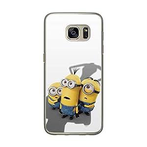 Loud Universe Samsung Galaxy S7 Files Minion 18 Printed Transparent Edge Case - Multi Color