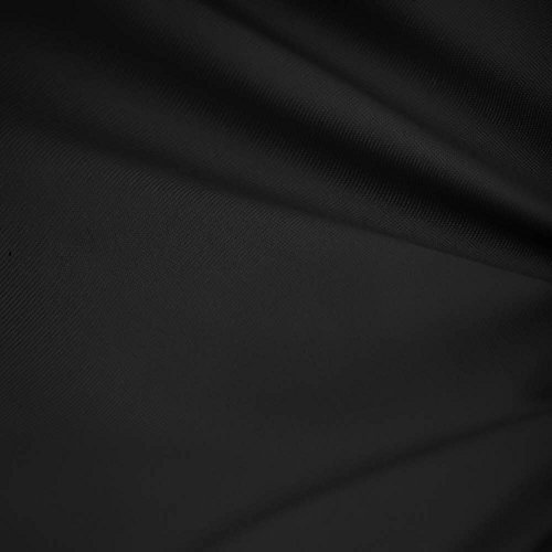 "Black 60"" Wide Premium Cotton Blend Broadcloth Fabric By the Yard by Fabric Bravo"