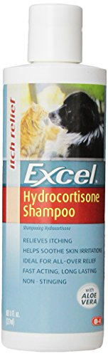 Excel Hydrocortisone Shampoo for Dogs and Cats, 8-Ounce Bottle
