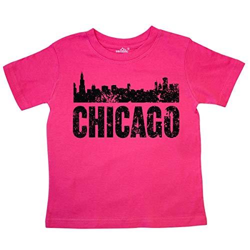 inktastic - Chicago Skyline Grunge Toddler T-Shirt 2T Hot Pink 355bb ()