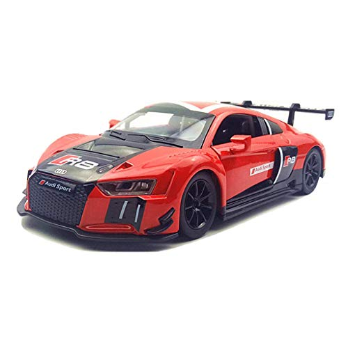 [해외]GLP 모델 자동차 1:24 아우디 자동차 모델 R8 스포츠카 자동차 모델 아이 장난감 자동차 모델 생일 선물 컬렉션 미니 (Color: Red) / GLP Model Car 1:24 Audi Car Model R8 Sports Car Model Children`s Toy Car Model Birthday Gift Collection Mi...