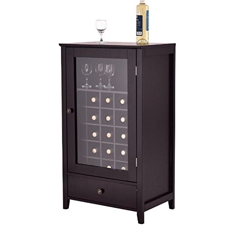 Amazon 25 Bottles Dark Brown Wooden Artistic Wine Cabinet With