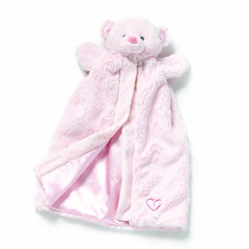 Nat and Jules  Blanket Plush Toy, Pink Bear (Pink Bear Blanket)