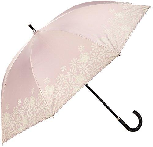 (문 배트) MOONBAT 랑방 온 블루 쇼트산(차열&차광) 파라솔&우산 양산 우산 겸용 안료 프린트×자수