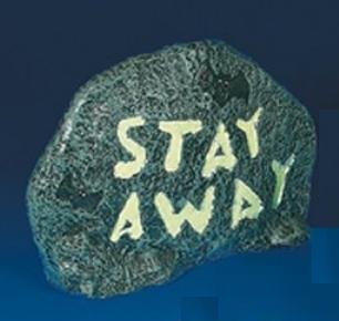 halloween props decorations and accessories halloween warning stone stay away