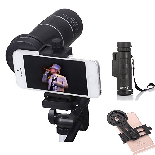 ICE FROG 10X Clip on Optical Zoom Telescope with Phone Clip, Hiking...