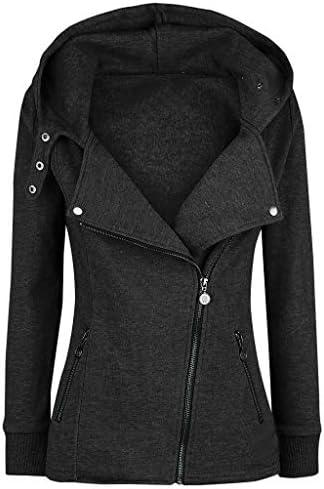 Women Lightweight Zip-Up Hoodie Jacket,Memela Ladies Fashion Plus Size Solid Color Hooded Pullover Warm Winter Jumper Tops