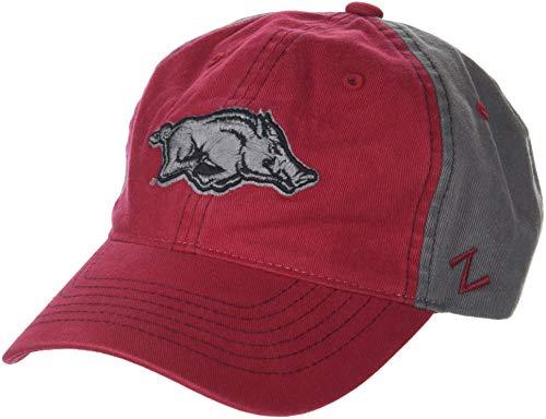 Zephyr NCAA Arkansas Razorbacks Men's Moonscape Relaxed Cap, Adjustable, Grey/Team Color