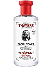THAYERS Witch Hazel Rose Petal Face Toner, Natural, Alcohol Free with Aloe Vera, Hydrating and Refreshing for All Skin Types, 355ml, 1 count