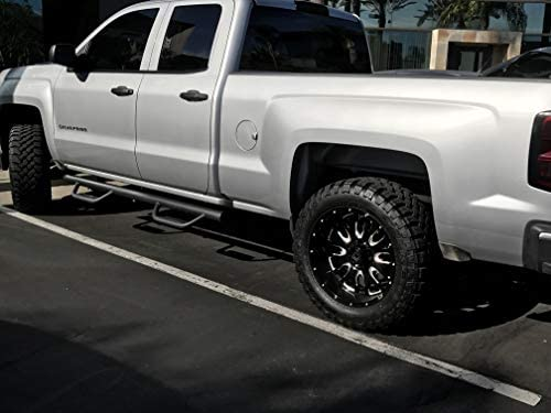 2 Rear Small Doors Aja Fit Chevy Silverado Extended Cab Hoop Side Steps 2007-2018 Nerf Bars | Side Steps | Side Bars