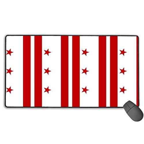 LNUO-2 Large Gaming Mouse Pad/Mat, Washington DC Flag