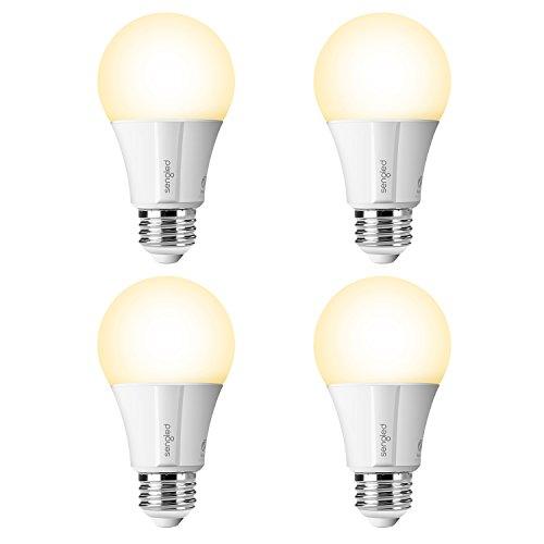 Element Classic by Sengled - 4 Pack - A19 60W Equivalent Soft White (2700K) Smart LED Bulb, Zigbee, Works with Amazon Echo Plus and SmartThings, Compatible with Amazon Alexa and Google Assistant (hub