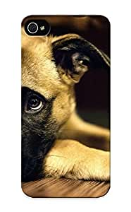 Iphone 5/5s Case Cover - Slim Fit Tpu Protector Shock Absorbent Case (german Shephard Puppy)