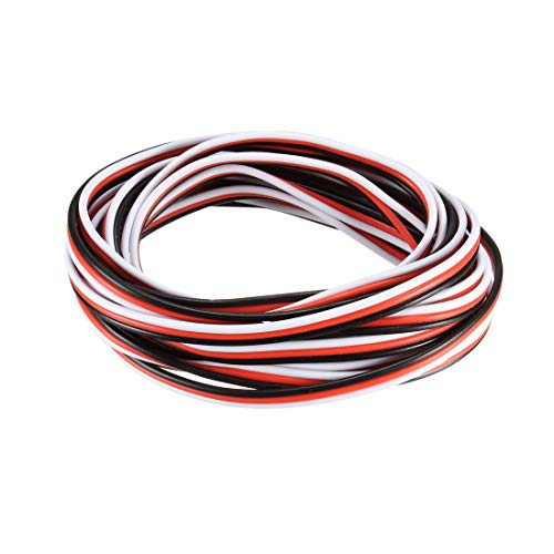 uxcell 10FT/3Meters 22AWG Servo Wire 3Pin Line for JR Futaba RC Servo Hobby Model Extension Cable 60 Core-Black/Red/White from uxcell