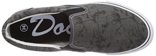 Dockers by Gerli 36CD60 - zapatilla deportiva de lona infantil gris - Grau (dunkelgrau 220)
