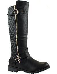 Link Women's MANGO-21 Quilted Zipper Accent Riding Boots...