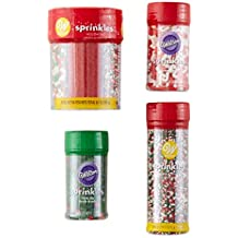 Wilton Red, Green and White Holiday Sprinkles Decorating Set, 5-Piece
