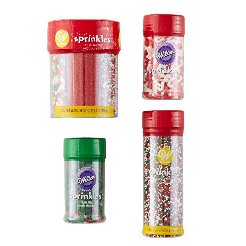 Price comparison product image Wilton Red,  Green and White Holiday Sprinkles Decorating Set,  5-Piece