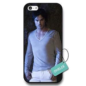 diy case - The Vampire Diaries Ian Somerhalder Black Hard Plastic iPhone 5c Protective Case & Cover - Black 4
