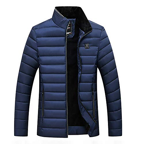 Clearance Forthery Mens Packable Down Puffer Jacket Winter Lightweight Zipper Coat(Navy, US Size M = Tag L) ()