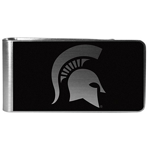 NCAA Michigan State Spartans Black & Steel Money Clip