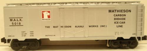 B0006O6SNS MTH 20-94021 Mathieson Dry Ice Co. Operating Reefer Car 41YFTECyjsL.