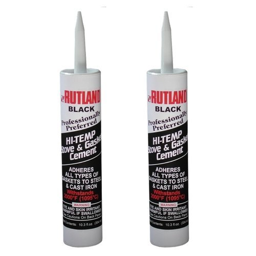 Rutland Cement Gasket Stove - Rutland Stove Gasket Cement Black 10.3 Oz Cartridge (2 Pack)