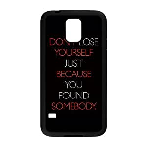 Samsung Galaxy S5 Cell Phone Case Black_quotes lose yourself somebody FY1395795