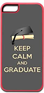 Keep Calm and Graduate - Pink Iphone 5C plastic case - compatible with iPhone 5C only - CHOOSE YOUR COLOR