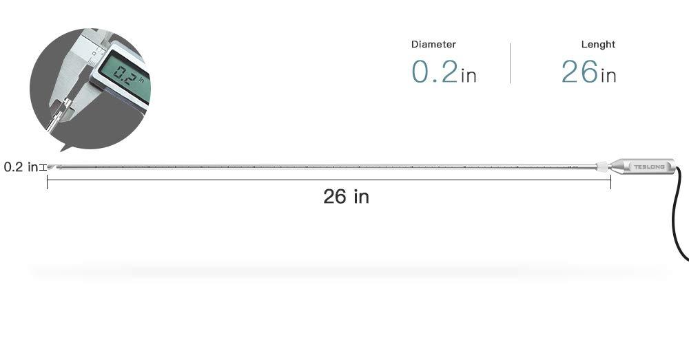 Teslong Rigid Rifle Borescope, 0.2inch Rod Digital Gun Barrel Bore Scope Gun Cleaning